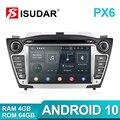 Isudar PX6 2 Din Android 10 Автомобильный мультимедийный плеер GPS для Hyundai/IX35/TUCSON 2009-2015 Canbus Авто Радио USB DVR DVD плеер DSP