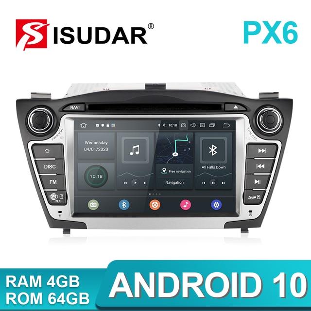 Isudar PX6 2 DIN Android 10 Máy Nghe Nhạc Đa Phương Tiện GPS Cho Xe Hyundai/IX35/TUCSON 2009 2015 Xi Nhan CANBUS tự Động Phát Thanh Hình USB DVR Đầu DVD DSP
