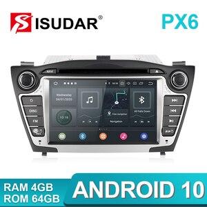 Image 1 - Lecteur multimédia de voiture Isudar PX6 2 Din Android 10 GPS pour Hyundai/IX35/TUCSON 2009 2015