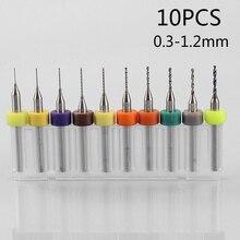 цена на Circuit Micro Drill Bits CNC Durable Tool 10PCS Set Kit Accessories Tungsten Steel PCB Board