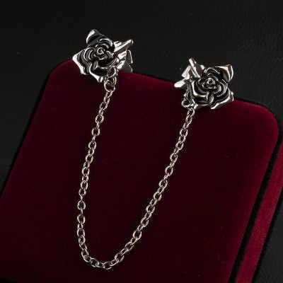 Винтажный свитер в Форме Розы шаль зажимы женский кардиган воротник металлический зажим шаль брошь на платье пуговицы-броши пряжки брошь для одежды