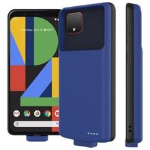 Para google pixel 4 xl caso carregador de bateria 7000mah destacável magnético tpu backup powerbank capa para google pixel 4 xl caso