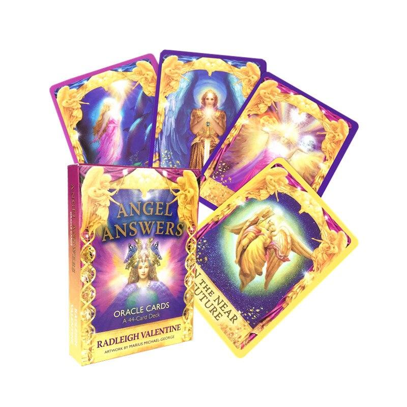 Карты Таро Angel Answers Oracle карты; Настольные игры на английском языке для семейного подарка, вечерние настольные игры, развлечения