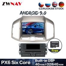 PX6 4G + 64G Android 9,0 coche DVD estéreo para Chevrolet Captiva Epica 2012, 2013, 2014, 2015 Auto Radio navegación GPS de Audio Multimedia