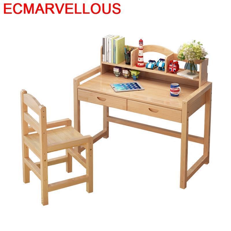 Tavolo Bambini Tableau Tisch Set Estudar Cocuk Masasi Infantil Meja Belajar Wooden Desk Escritorio Mesa Enfant Kids Study Table