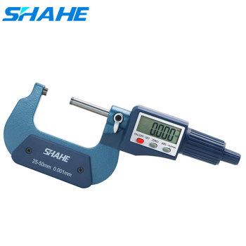 25-50mm cyfrowy mikrometr 0 001mm cyfrowy mikrometr dokładne narzędzia pomiarowe mikrometr dobrej jakości mikrometr tanie i dobre opinie Shahe CN (pochodzenie) Metalworking Rohs 5202-50 DIGITAL Mikrometry zewnętrzne +0 003 -0 003mm
