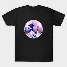 Big Chungus And The Great Wave Off Kanagawa Mashup Black T-Shirt S-6XL(China)