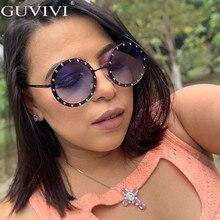 Diamond Round Sunglasses Women 2019 Men Rhinestone Vintage Luxury Retro Mens Sun Glasses Brand Designer Small Eyewear