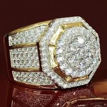 Роскошные геометрические массивные кольца ustar для мужчин ювелирные