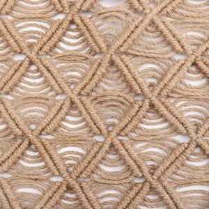 Image 2 - Tay Dệt Dây Gai Dầu Coaster Trang Trí Nhà Cửa Sổ Đệm Phòng Khách Thảm Chụp Ảnh Chống Đỡ Bàn Thảm Đế Lót Ly