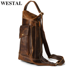 WESTAL Crossbody Men's Bag Genuine Leather Casual Tote Sling