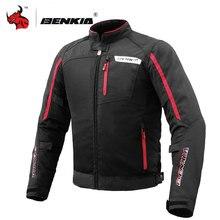 BENKIA Summer Men Motorcycle Jacket Motocross Off-Road Racing Jacket Moto Jacket Breathable Mesh Moto Jacket Protective Gear