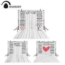 Allenjoy düğün arka plan Photocall için özel beyaz ahşap evlilik fotoğraf stüdyosu kişiselleştirilmiş fotoğraf zemin Photozone
