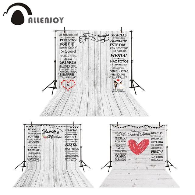 Allenjoy photo background Photocall for wedding custom white wood birthday studio personalized photography backdrop photozone