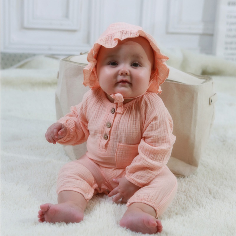 0-24M Newborn Toddler Infant Baby Boy Girl Jumpsuit Romper With Hat Casual Clothes Sleepsuit 2pcs Outfits