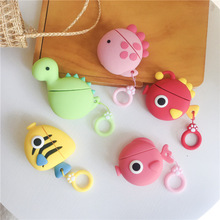 3D Cute Fishes Earphone Case for Apple Airpods 2 / 1  Silicone Bluetooth Headphone Cover Charging Box Bag AirPods case coque capa #EW