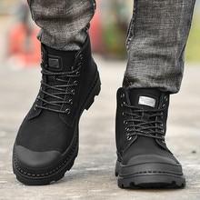 Г., новая модная мужская парусиновая удобная повседневная обувь на плоской подошве с высоким берцем botas tacticas hombre# NN801