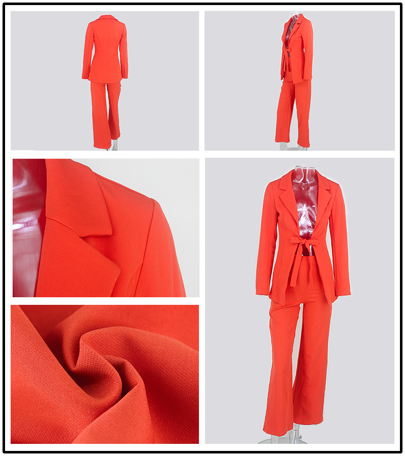 PFFLOOK Work Ol Suit Female Blazer And Pants Suit Set Female Coat V Neck Sexy Chic Suit Women Office Set 2 Pieces Outfits Female 22