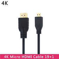 Micro HDMI to HDMI Cable V1.4 1.5M Male to Male Gold Plated HDMI Adapter Cord for Tablet HDTV Android Phone Raspberry Pi 4