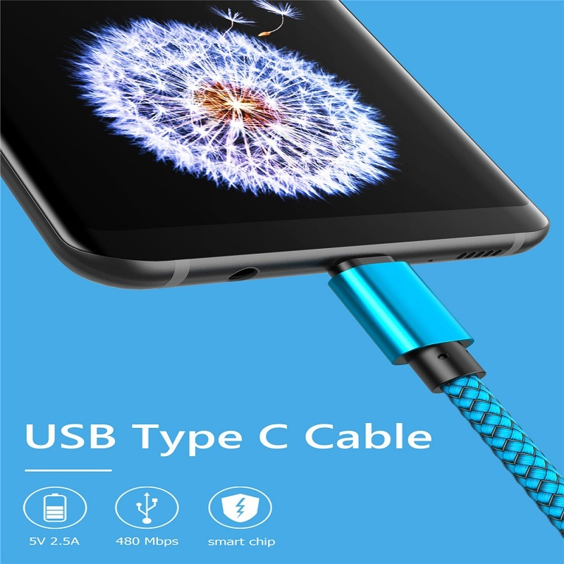 20cm 1m 2m 3m USB Type C Cable for Xiaomi Redmi Note 7 Mi 9 Samsung S9 2.5A Fast Charging Data Sync USB C Cable Type-c Cable