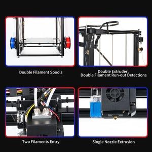 Image 4 - TRONXY büyük DIY 3D yazıcı Cyclops 2 çift renkli ekstruder isı yatak dokunmatik ekran büyük boy 500*500*600mm X5SA 500 2E
