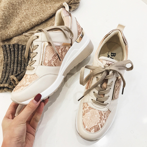 Image 3 - 2020 نساء ليوبارد أحذية رياضية شتاء الخريف منصة أسافين أحذية السيدات موضة الأفعى نمط غير رسمي