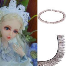 Wholesale 5pcs DIY False Eyelashes / Lot 8mm Wide * 20cm Long For 1/3 1/4 BJD Doll Or Reborn Accessory