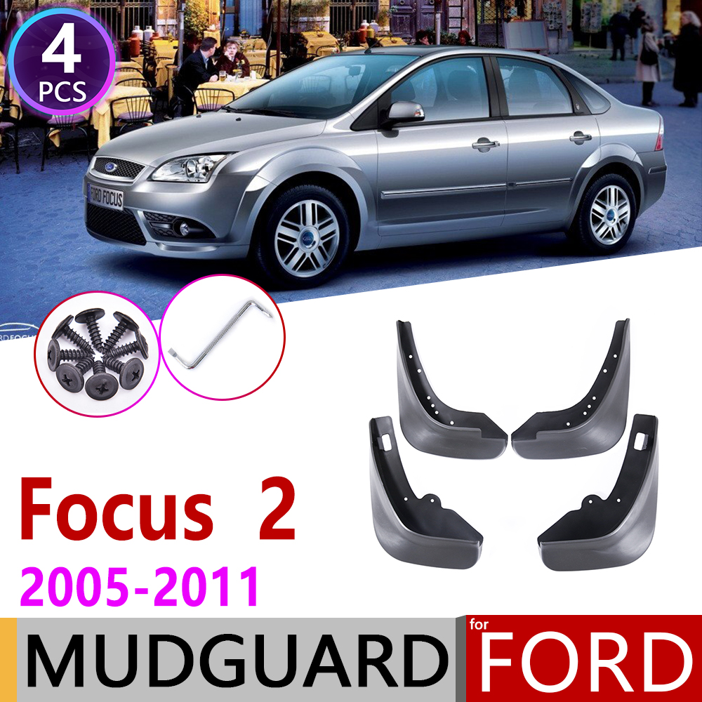 Mudflap For Ford Focus 2 MK2 MK2.5 Saloon Sedan 2005~2011 Fender Mud Guard Splash Flaps Mudguard Accessories 2006 2007 2008 2009