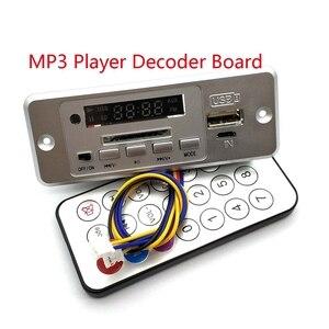 Image 1 - Беспроводной MP3 плеер 5 В, декодер, плата, встроенный WMV декодер, плата, аудио модуль, USB TF радио для автомобиля, красный цифровой светодиодный декодер с