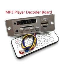 Senza fili 5V MP3 Lettore Scheda di Decodifica Integrato WMV Scheda di Decodifica Audio Modulo USB TF Radio Per Auto Rosso Digitale LED Con