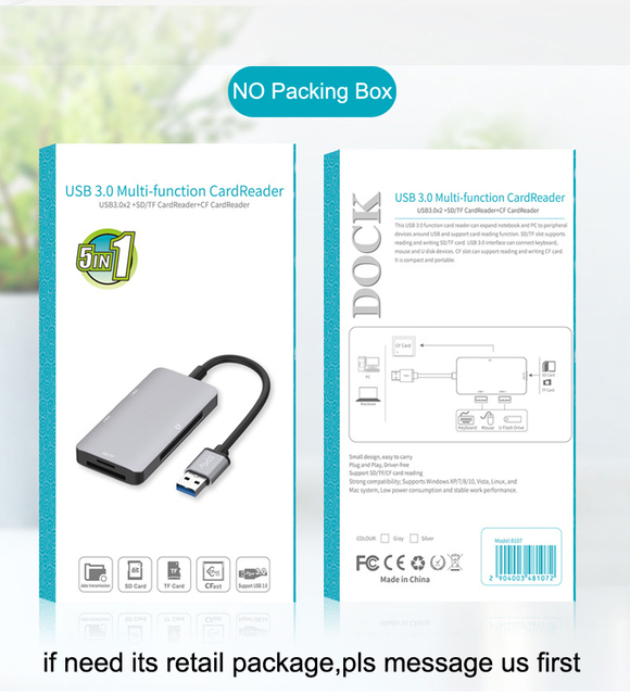 USB 3.0 SD SDHC CF Compact Flash TF MicroSD Card Reader USB3.0 U Flash Disk Drive Mouse OTG for Macbook Laptop Notebook PC 5in1 6