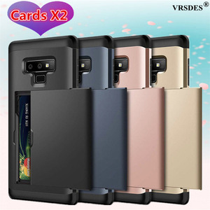 Busines Phone Case For Samsung Galaxy Note 8 9 10 Plus 5G S20 Ultra S10 S9 S8 Plus Armor Card Slot Cover For Samsung S7 S6 Edge(China)