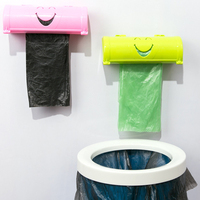 5 colors Home Eco friendly Smile Face Garbage Bags Storage Box Kitchen Paste Type Plastic Container YH 460336|Waste Bins|   -