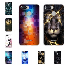 For Xiaomi Redmi 6 Case Ultra-slim Soft TPU Silicone Cover Cute Cat Patterned Bumper Capa