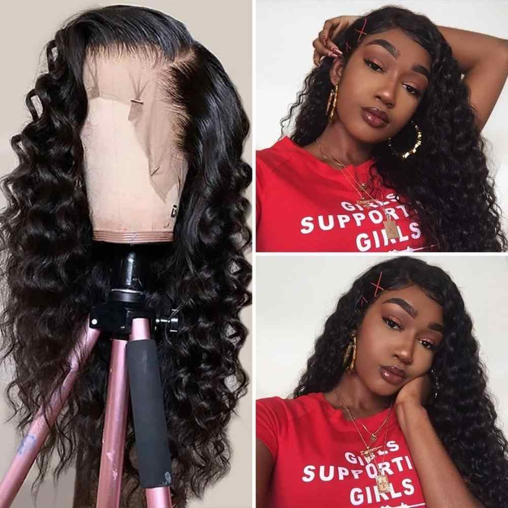 Curly Human Hair Wig Lace Front Human Hair Wigs For Women Pre Plucked Remy Brazilian Water Wave Wig With Baby Hair Mslove