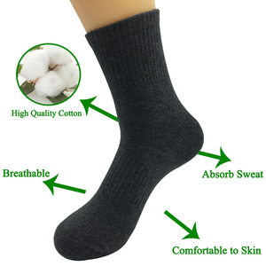 Image 5 - 5 Pairs/Lot  Men Thick Cotton Solid Compression Socks Outdoor Running Basketball Climbing  Socks 4 Styles