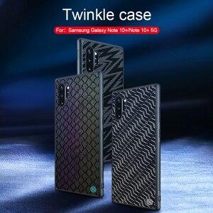 Image 1 - Samsung Galaxy not için 10 artı durumda Nillkin pırıltı degrade dokulu plastik silikon hibrid kılıfları Samsung Galaxy not için 10