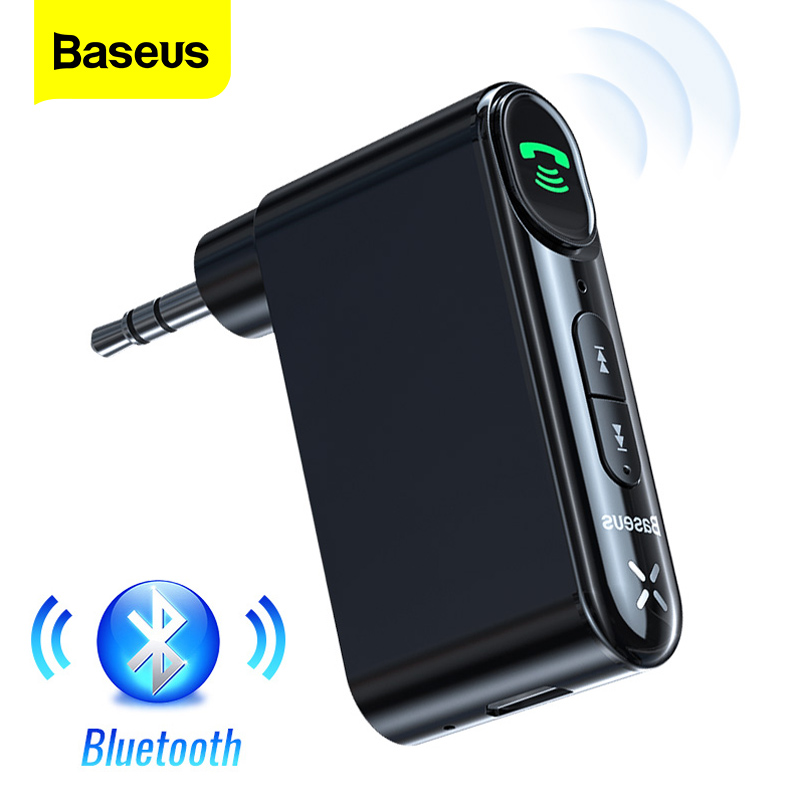 Baseus Aux Car Bluetooth Receiver 3.5mm Wireless Audio Receiver Auto Bluetooth 5.0 Car Kit Adapter Handsfree Speaker With Mic