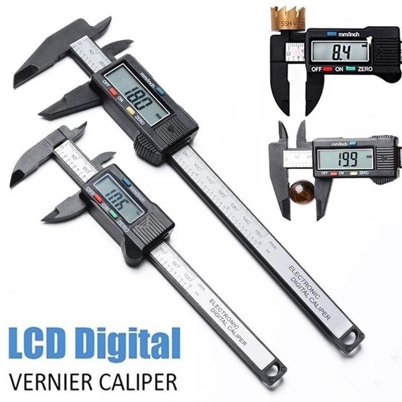 Electronic LCD Digital Vernier Caliper Mess Chie Ber Micrometer Gauge Digital Caliper Measuring Tool