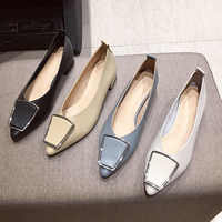 Sapatos femininos de luxo bombas sapatos de salto alto mulher moda apontou baixo (1cm-3cm) deslizamento mary janes zapatos de mujer senhoras sapatos