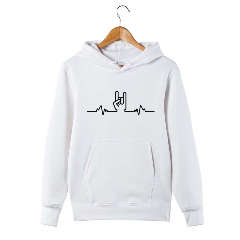 Rock Heartbeat Pulse Metal Hand HOODIE Band Heavy hoody Funny birthday gift
