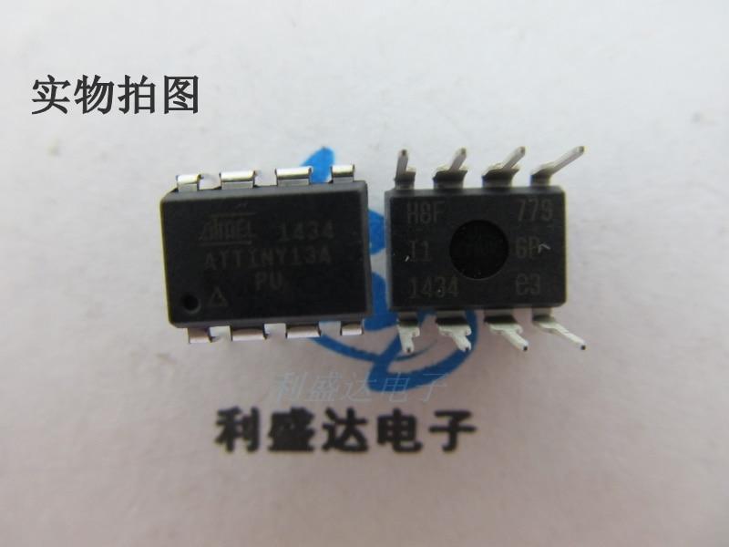10 шт./лот, одночиповый фонарь ATTINY13A DIP-8, 8-битные микроконтроллеры, новые оригинальные автомобильные чипы памяти 13A-PU