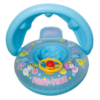 Baby Kids Summer Swimming Ring Inflatable Yacht Seat Float Boat Swim Pool Toy E65D hot juegos inflatable swimming ring animal modeling seat boat float boat water sports children mounts dolphin large kids toy