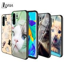 Черный чехол с котом от цветов для huawei p smart z plus 2019