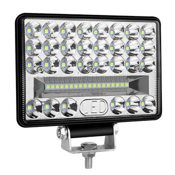 Duże pole widzenia widzenia 5 Cal 144W 48leds światło robocze dla samochodów ciężarówek ciężarówek urządzenie inżynieryjne Off-Road światło drogowe Spotlight tanie i dobre opinie CN (pochodzenie) ŚWIATŁO ROBOCZE 6000 k -40℃-85℃ szeroki strumień Boki i Środkowej IP68 5000 hours 48pcs 9V-30V