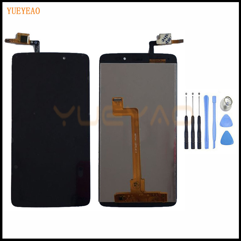 YUEYAO Full LCD <font><b>Display</b></font> + Touch Screen Digitizer Assembly For <font><b>Alcatel</b></font> One Touch Idol 3 OT6045 6045 <font><b>6045Y</b></font> 6045F LCD Screen image