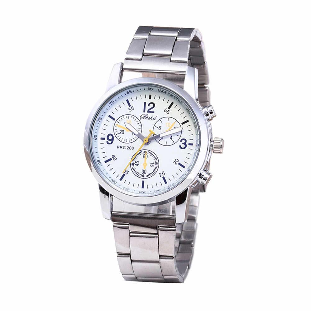 Moda pas stalowy zegarek neutralne męskie damskie moda quartz zegarek analogowy ze stali nierdzewnej stalowy pasek Reloj hot sukienka nowa 03 *