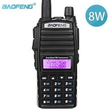 BaoFeng UV 82 réel 8W haute puissance double bande bidirectionnelle jambon Radio 136 174mhz (VHF) 400 520mhz (UHF) Amateur (jambon) Portable