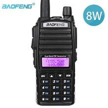 Baofeng uv 82 real 8w banda dupla de alta potência rádio presunto em dois sentidos 136 174mhz (vhf) 400 520mhz (uhf) amador (ham) portátil