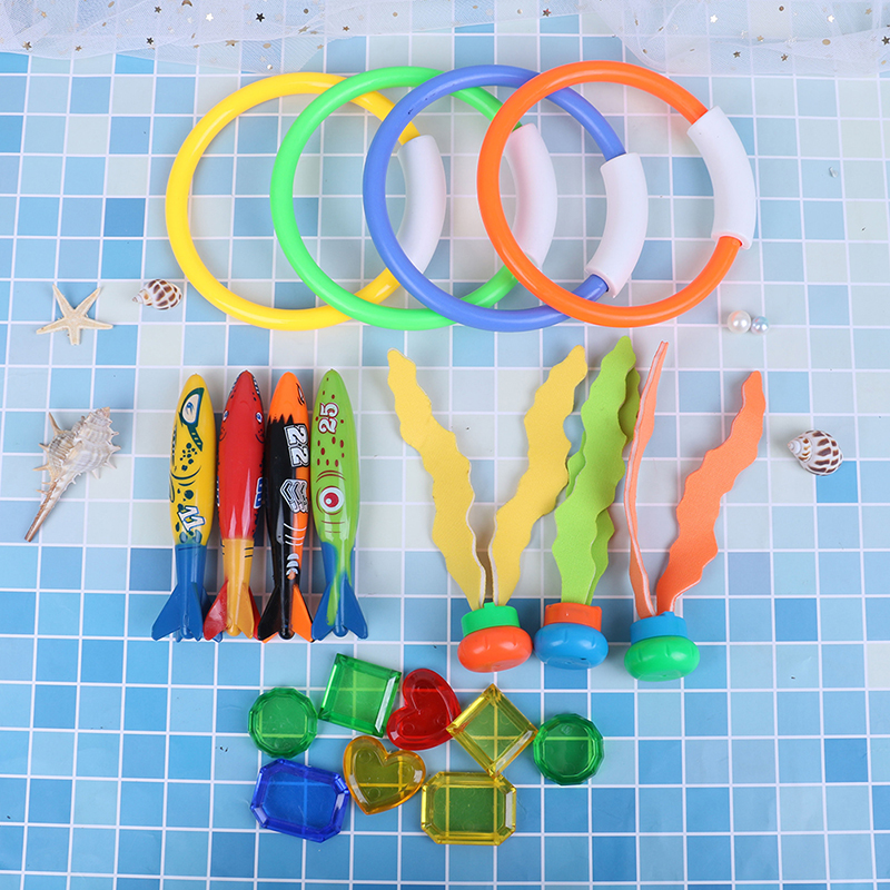 Summer Torpedo Rocket Throwing Toy Funny Swimming Pool Diving Game Toys Children Underwater Dive Toy